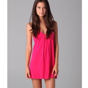 Alice and Olivia hot pink dress fierra size small